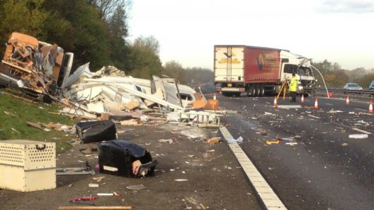 M40 crash lorry driver jailed
