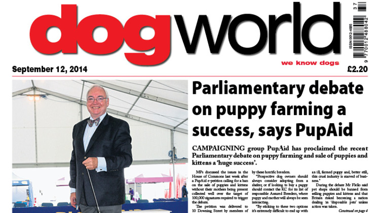Parliamentary debate on puppy farming a success, says PupAid